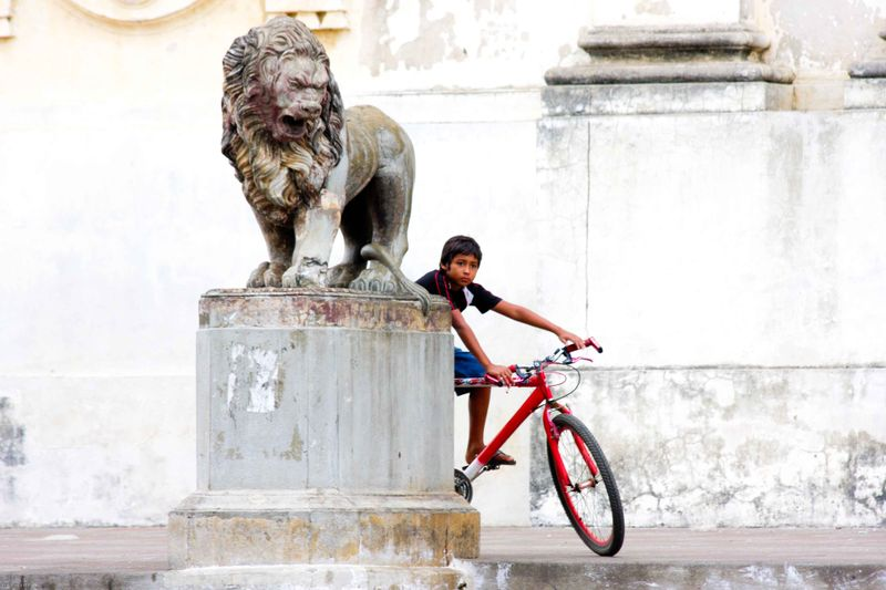 Boy on a bike in Leon