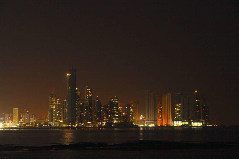 Night time Panama City
