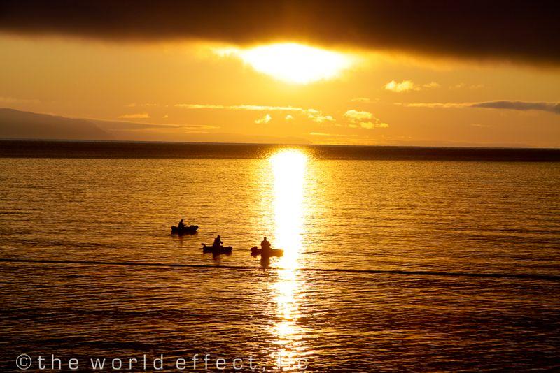 Fishermen on Lake Baikal, Russia