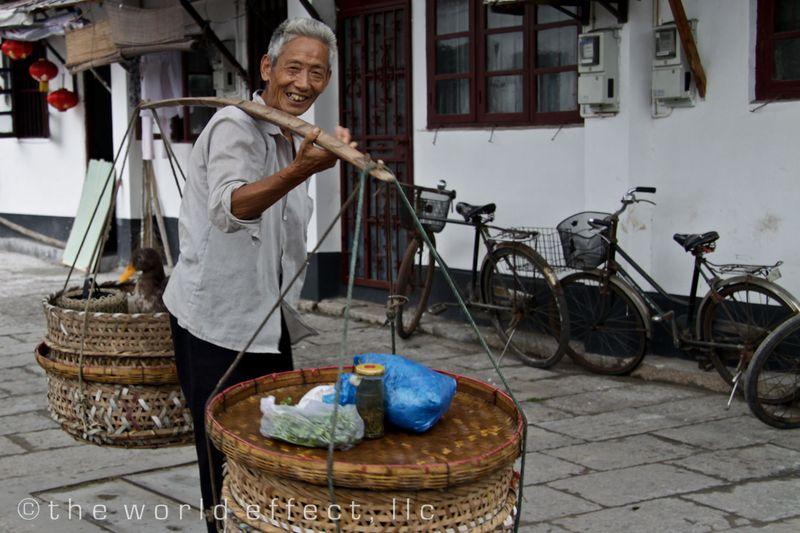 Zhujiojiao, China - Local man