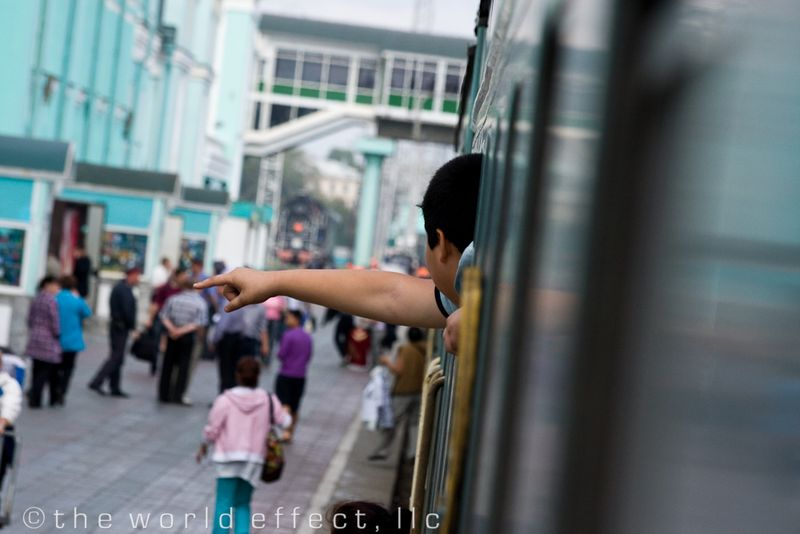 Young Mongolian passenger. Trans Mongolian Rail