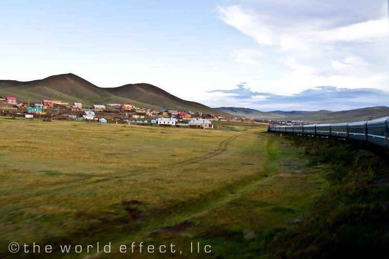 Entering outskirts of Ulaanbaatar, Mongolia